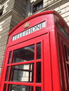 London red telephone booth famous is one of the most well known symbols of Royalty Free Stock Image