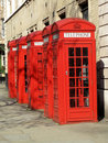 London Red Telephone Boxes Stock Photography