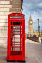 London red telephone cabin. Royalty Free Stock Photo