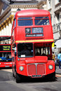 London Routemaster red double decker bus Stock Image