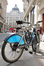 London s bicycle for hire england june sharing scheme sponsored by barclay Stock Image