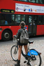 London's bicycle sharing scheme Royalty Free Stock Image