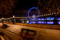 London's embankment at night Stock Photo
