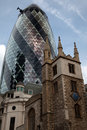 London's 'Gherkin' Building Royalty Free Stock Photo