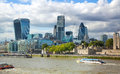 London s panorama view from st paul cathedral london uk august Royalty Free Stock Photos