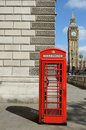 London scene telephone box westminster big ben Stock Photography