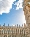 LONDON - SEPTEMBER 2016: Westminster Palace as seen fron street Royalty Free Stock Photo