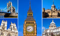 London sightseeing a montage of a few of s best known tourist destinations and landmarks Stock Images