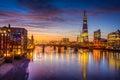 London Skyline  by night Royalty Free Stock Photo