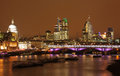 London skyline at night Royalty Free Stock Photos