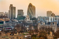 London skyline at sunset uk Royalty Free Stock Photo
