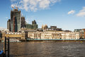London skyline view of on thames river uk Royalty Free Stock Image