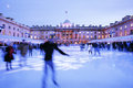 London Somerset House Ice Rink Royalty Free Stock Photo