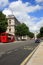 London street scene at the summer england Stock Photo