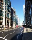 London street in the sunshine Stock Photo