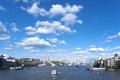 London thames river panorama great britain Royalty Free Stock Photography