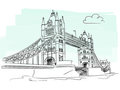 London tower bridge vector