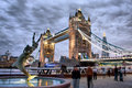 London tower bridge at dusk Royalty Free Stock Image
