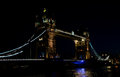 London tower bridge the in england at night Royalty Free Stock Photo