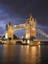 London Tower Bridge by night Royalty Free Stock Photo