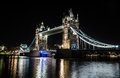 London tower bridge at night Royalty Free Stock Photo