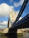 London tower bridge over the thames river is one of the most well known symbols of Royalty Free Stock Photos