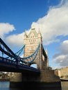 London tower bridge over the thames river is one of the most well known symbols of Stock Images