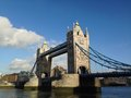London tower bridge over the thames river is one of the most well known symbols of Royalty Free Stock Photo
