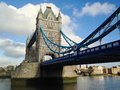 London tower bridge over the thames river is one of the most well known symbols of Royalty Free Stock Images