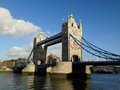 London tower bridge over the thames river is one of the most well known symbols of Stock Photography