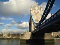 London tower bridge over the thames river is one of the most well known symbols of Stock Image