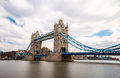 London tower bridge uk england is a combined bascule and suspension in over the river thames it is close to the of from Royalty Free Stock Photos