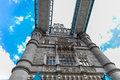 London tower bridge uk england is a combined bascule and suspension in over the river thames it is close to the of from Royalty Free Stock Image