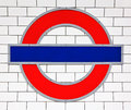 London tube sign Royalty Free Stock Photo