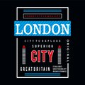 London typography design tee for t shirt