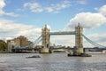 London uk august tower bridge in london on august unidentified people Stock Photo