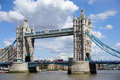 London uk august tower bridge in london on august unidentified people Royalty Free Stock Photography