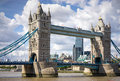 London uk august tower bridge in london on august unidentified people Royalty Free Stock Photos