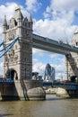 London uk august tower bridge in london on august unidentified people Stock Photos