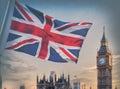 Image : London, UK   red