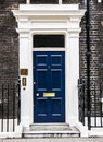 London, UK, Doorway of preserved London 18th century Georgian townhouse. Royalty Free Stock Photo