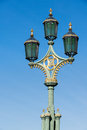 LONDON/UK - FEBRUARY 18 : View of Ornate lamps on Westminster Br Royalty Free Stock Photo