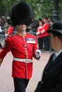 London uk july soldier of royal guard july in london the Royalty Free Stock Photo