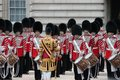 London uk july soldier of the royal guard july in london coldstream Royalty Free Stock Images