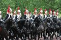 London uk july soldier of the royal guard july in london on parade for queens birthday Royalty Free Stock Photo
