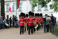 London uk july soldier of the royal guard july in london for trooping colour for queen elizabeths th birthday Royalty Free Stock Photography