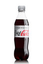 LONDON, UK - JUNE 9, 2017: Bottle of Diet Coke soft drink on white.The Coca-Cola Company, an American multinational beverage corpo Royalty Free Stock Photo