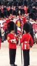 London uk june major general s review trooping color horse guard troops rehearse queen s birthday parade troops exchange color Royalty Free Stock Photo