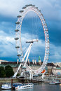 London uk london at dawn view from golden jubilee bridge during the blue hour Royalty Free Stock Photography