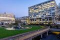 London, UK - March 15, 2016: St Thomas Hospital across the British parliament
